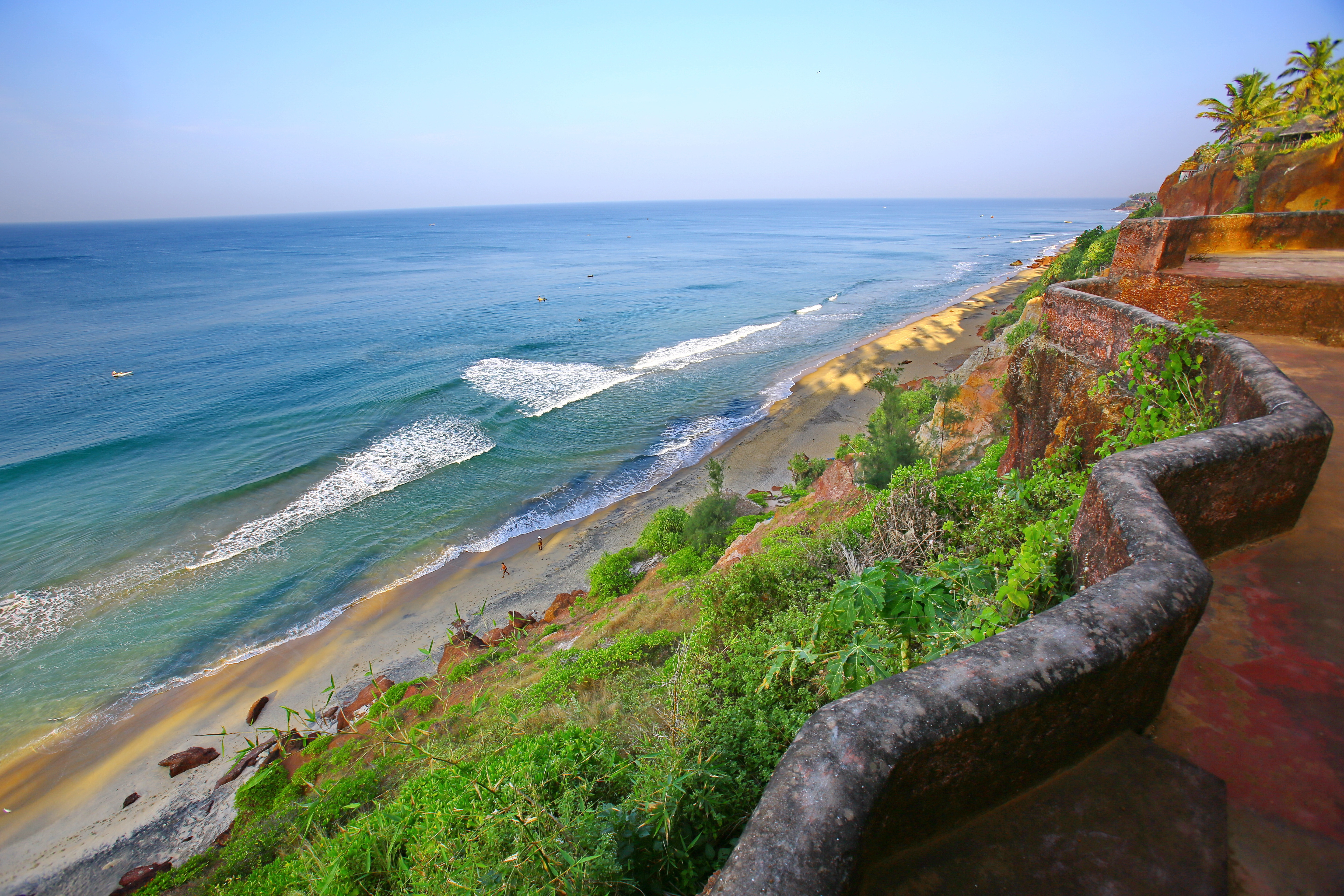 Big world   india coastal zone in varkala 069113